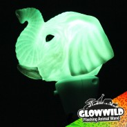 "Elephant Mini Light Up Animal Wand 7"" 3"