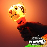 "Tiger Mini Light Up Animal Wand 7"" 3"
