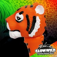"Tiger Mini Light Up Animal Wand 7"" 7"