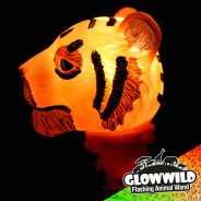 "Tiger Mini Light Up Animal Wand 7"" 4"