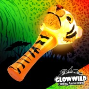 "Tiger Mini Light Up Animal Wand 7"" 6"