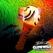 "Tiger Mini Flashing Animal Wand 7"" Wholesale 2"