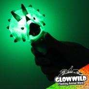 "Triceratops Mini Light Up Animal Wand 7"" 2"
