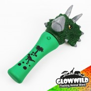 "Triceratops Mini Light Up Animal Wand 7"" 7"