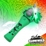 "Triceratops Mini Light Up Animal Wand 7"" 8"