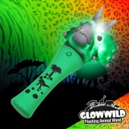 "Triceratops Mini Light Up Animal Wand 7"" 1"