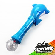 "Dolphin Mega Light Up Animal Wand 11"" 10"