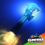 "Dolphin Mega Flashing Animal Wand 11"" Wholesale 6"