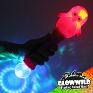 "Penguin Mega Light Up Animal Wand 11"" 6"