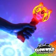 "Tiger Mega Light Up Animal Wand 11"" 6"