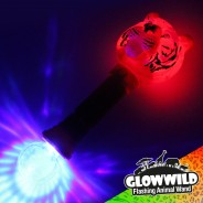 "Tiger Mega Flashing Animal Wand 11"" Wholesale 6"