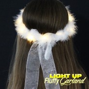 LED Fluffy Garland with Ribbon 3