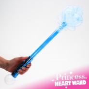 Large Light Up Princess Heart Wand Wholesale 13 Blue