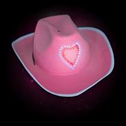 Flashing Pink Cowboy Hat 2