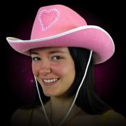 Flashing Pink Cowboy Hat 1