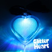 Flashing Glitter Heart Necklaces Wholesale 3