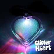 Light Up Glitter Heart Necklace 1