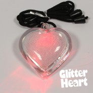 Flashing Glitter Heart Necklaces Wholesale 7