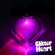 Light Up Glitter Heart Necklace 3
