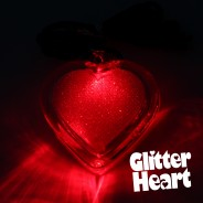 Light Up Glitter Heart Necklace 2