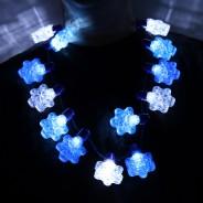 Flashing Snowflake Necklace Wholesale 4