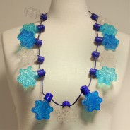 Flashing Snowflake Necklace Wholesale 3