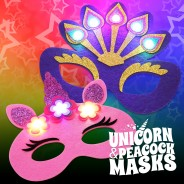 Flashing Felt Masks Wholesale - Unicorn & Peacock  2