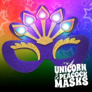 Flashing Felt Masks Wholesale - Unicorn & Peacock  7