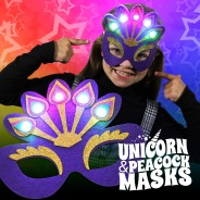 Flashing Felt Masks Wholesale - Unicorn & Peacock  5