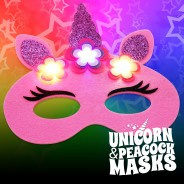Flashing Felt Masks Wholesale - Unicorn & Peacock  8