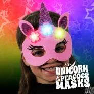 Light Up Felt Masks - Unicorn & Peacock 4