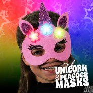 Flashing Felt Masks Wholesale - Unicorn & Peacock  4