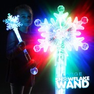 Large Flashing Snowflake Wand Wholesale 8