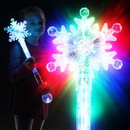 Large Flashing Snowflake Wand Wholesale 7