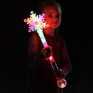 Large Flashing Snowflake Wand Wholesale 6