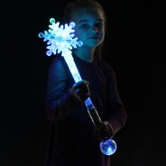 Large Flashing Snowflake Wand Wholesale 10
