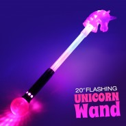 "20"" Flashing Unicorn Wand Wholesale 2"