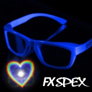 FX Spex Deluxe Rainbow Glasses 6 Heart