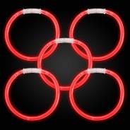 Glow Bracelets 15 Red glow bracelets