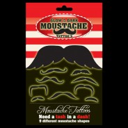 Glow in the Dark Moustache Tattoos 1