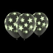 """Glow In The Dark 11"""" Star Balloons (5 Pack) 1"""