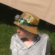 Gold Holographic Hat 2