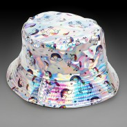 Silver Holographic Unicorn Hat 1