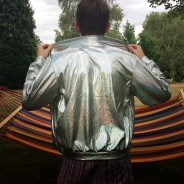 Silver Holographic Jacket XL 2