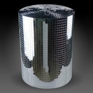 Silver Disco Mirror Cylinder 4 XL Mirror Cylinder (30cm diameter x 40cm H