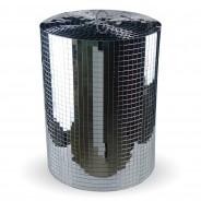 Silver Disco Mirror Cylinder 6 XL Mirror Cylinder (30cm diameter x 40cm H