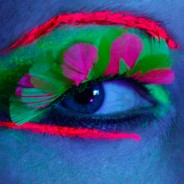 Neon Feather Eyelash 2