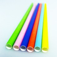 Neon Biodegradable Paper Straws (25 pack) 1