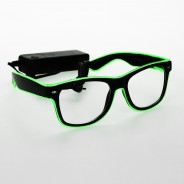 Light Up Party Fun Glasses 5 Green