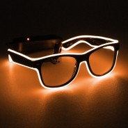 Light Up Party Fun Glasses 6 Orange